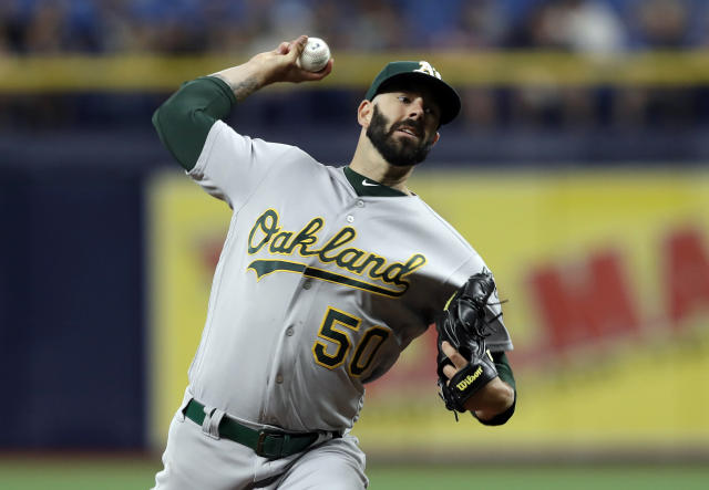 "<a class=""link rapid-noclick-resp"" href=""/mlb/players/9078/"" data-ylk=""slk:Mike Fiers"">Mike Fiers</a> was called out by Pedro Martinez. (AP Photo/Chris O'Meara)"