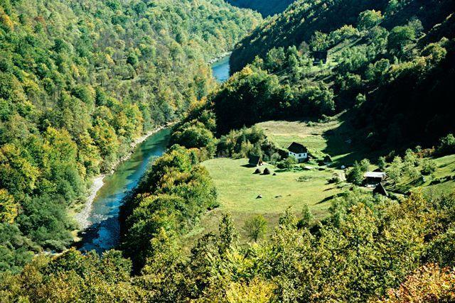 """<p><strong>Tara River Canyon</strong></p><p>The picturesque canyon between the countries of Bosnia and Herzegovina will give you ample opportunity to experience once-in-a-lifetime outdoor travel. Stretches of the river are a UNESCO World Heritage Site. Visitors can enjoy the stunning views via a scenic rafting route that includes 3 hours of unadulterated beauty.</p><span class=""""copyright"""">Photo: Getty Images.</span>"""