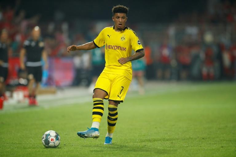 Dropped: Jadon Sancho was suspended by Dortmund after returning late from England duty