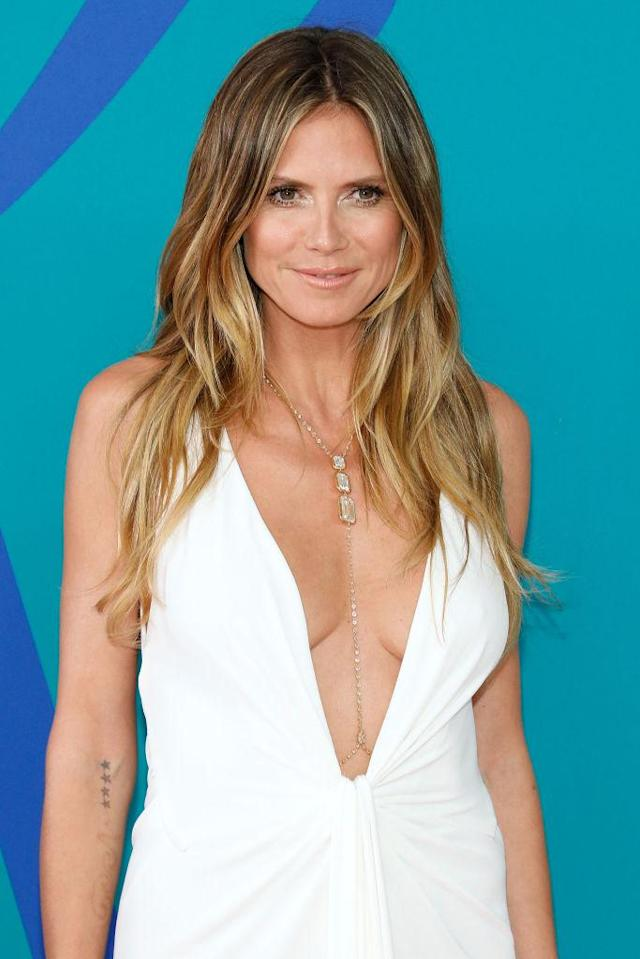 <p>Heidi Klum shows us how to rock the ultimate beach hair. (Photo by Taylor Hill/FilmMagic) </p>