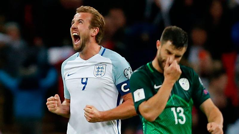Kane's goal sealed England's World Cup berth. Pic: Getty