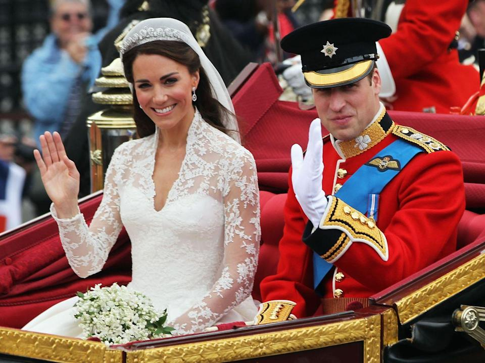 """<p>While it's probably just a coincidence, Kate Middleton and Prince William share their wedding date with an infamous couple. While Kate and William tied the knot on April 29, 2011, <a href=""""https://www.historyextra.com/period/second-world-war/eva-braun-life-death-adolf-hitler-mistress-wife-who-was-she-pictures-born-marriage-wedding-holocaust/"""" rel=""""nofollow noopener"""" target=""""_blank"""" data-ylk=""""slk:Adolf Hitler and Eva Braun"""" class=""""link rapid-noclick-resp"""">Adolf Hitler and Eva Braun</a> married on April 29, 1945, as pointed out by <a href=""""https://life.spectator.co.uk/articles/a-curious-history-of-royal-weddings/"""" rel=""""nofollow noopener"""" target=""""_blank"""" data-ylk=""""slk:Spectator Life"""" class=""""link rapid-noclick-resp""""><em>Spectator Life</em></a>.</p>"""