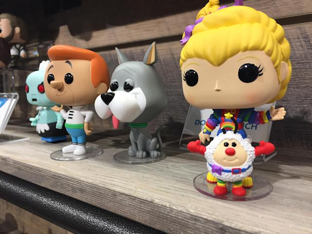 """<p>Fans of '60s and '80s cartoons can bond over their shared love of these Funko POP versions of <a href=""""https://www.yahoo.com/entertainment/tagged/the-jetsons"""" data-ylk=""""slk:The Jetsons"""" class=""""link rapid-noclick-resp""""><em>The Jetsons </em></a>and <em>Rainbow Brite</em>. (Photo: Ethan Alter) </p>"""