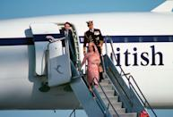 <p>Arriving via Concorde in Kuwait.</p>