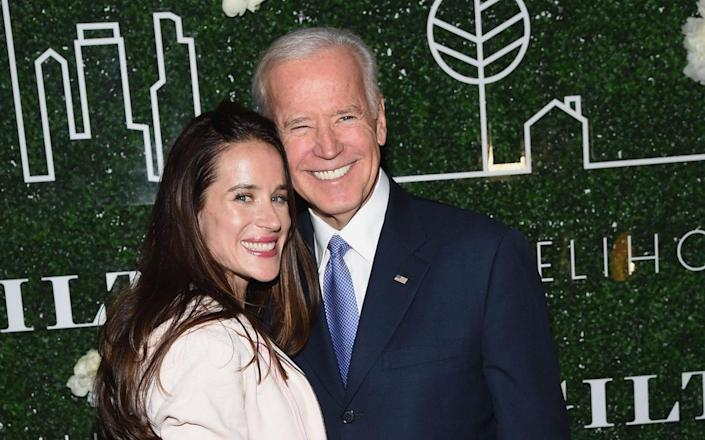 Ashley with her father, Joe Biden, who is set to become president on Wednesday - WireImage