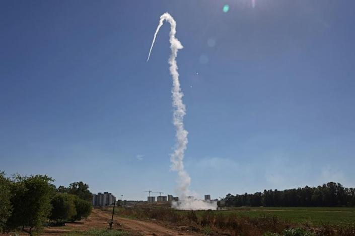 Israel's Iron Dome aerial defence system, pictured in May 2021, has destroyed thousands of short-range rockets and shells launched by Hamas (AFP/Menahem KAHANA)