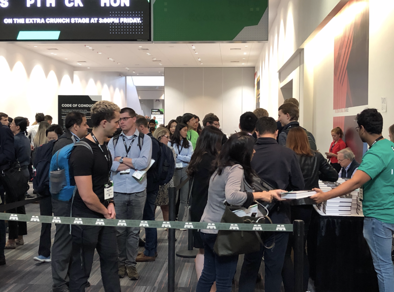 Line for Ray Dalio's book signing