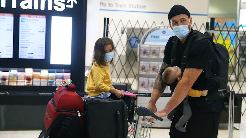 Sonny Bill Williams touched down at Sydney airport last week after flying out from the UK. Pic: Getty