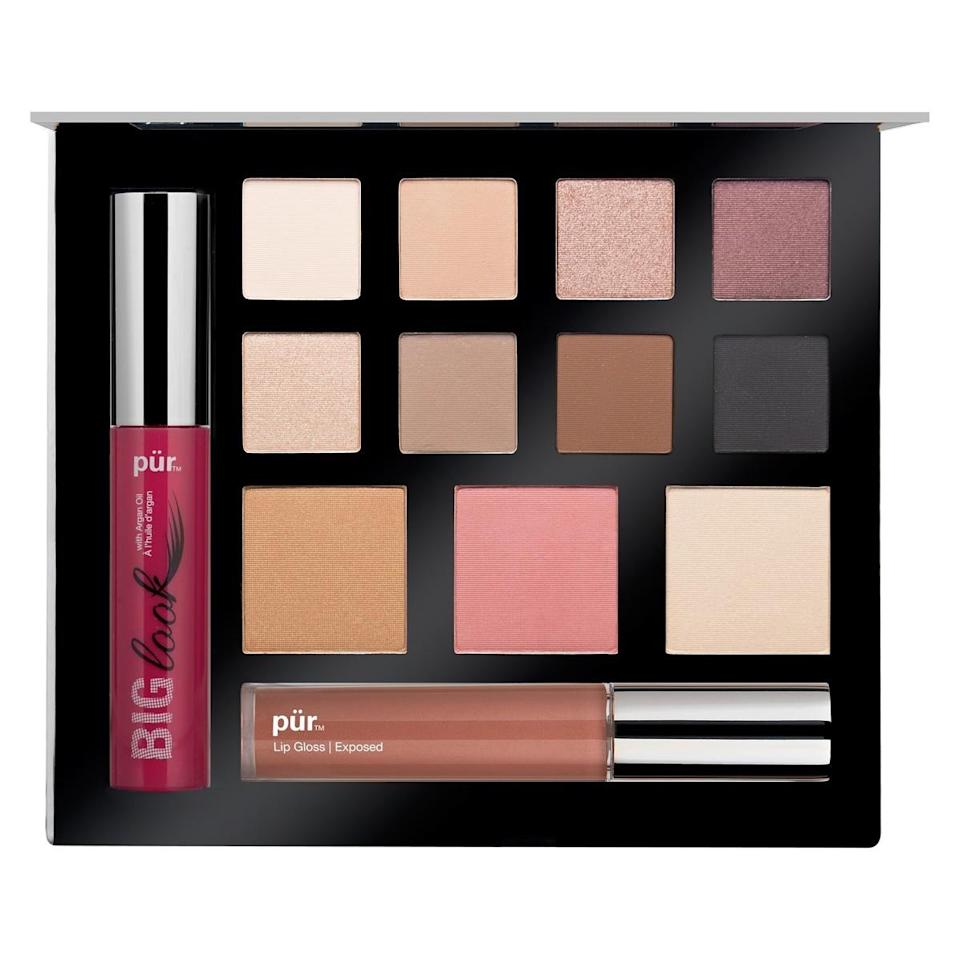 """<p>This travel-friendly kit is designed to give you a picture-perfect look in a few steps. It comes with mascara, lip-plumping lip gloss, bronzer, illuminating powder, blush, and eyeshadows with filter-esque names like """"Sepia."""" <a href=""""http://www.purminerals.com/Love-Your-Selfie"""" rel=""""nofollow noopener"""" target=""""_blank"""" data-ylk=""""slk:Pur Minerals Love Your Selfie Palette"""" class=""""link rapid-noclick-resp"""">Pur Minerals Love Your Selfie Palette</a> ($39)</p><p><i>(Photo: Pur Minerals)</i></p>"""