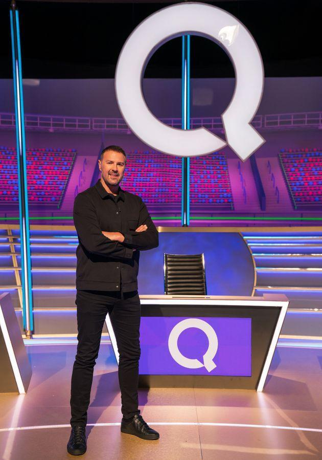 Paddy in the all-new Question Of Sport studio (Photo: BBC/James Stack)