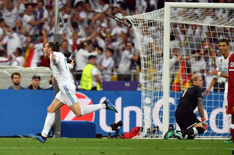 Gareth Bale celebrates his goal (AFP/Getty Images)