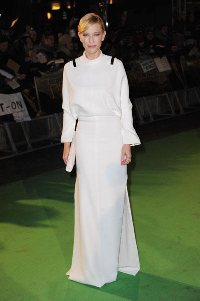 <b>Cate Blanchett at the London premiere of The Hobbit, Dec 2012 </b><br><br>Australian actress Cate, who plays Galadriel in The Hobbit trilogy, wore a Givenchy dress on the red carpet.<br><br>© Getty