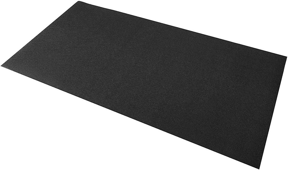 <p>Pelotons are notoriously wobbly on carpets, but this <span>BalanceFrom GoFit Exercise Bike Equipment Mat</span> ($25) is guaranteed to improve stability, even on high pile carpets.</p>