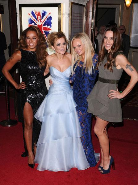 <b>Mel B, Geri Halliwell, Emma Bunton and Mel C at the Viva Forever! press night </b><br><br>The Spice Girls - bar Victoria Beckham - looked stunning as they graced the red carpet for Viva Forever!<br><br>© Rex