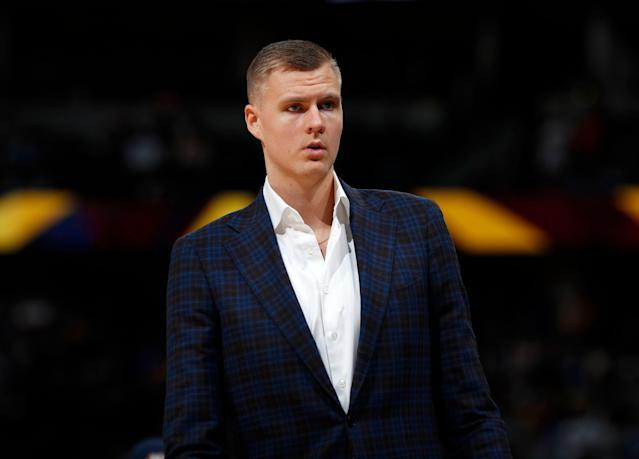 Kristaps Porzingis did not travel with the Mavericks on their current road trip. (AP)