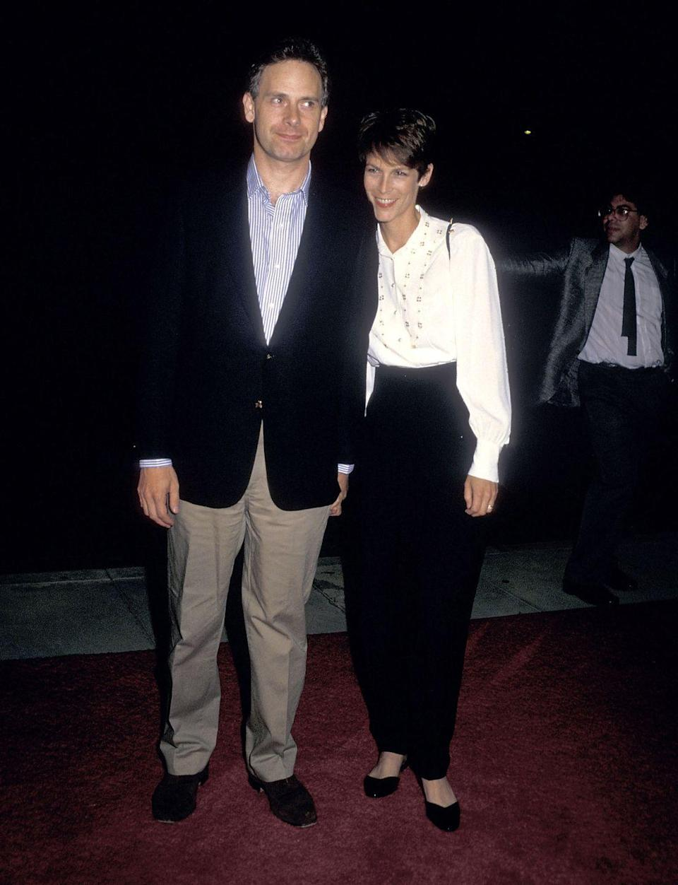 <p>The comfort shoe was a fixture on the red carpet, as seen here on Jamie Lee Curtis.</p>