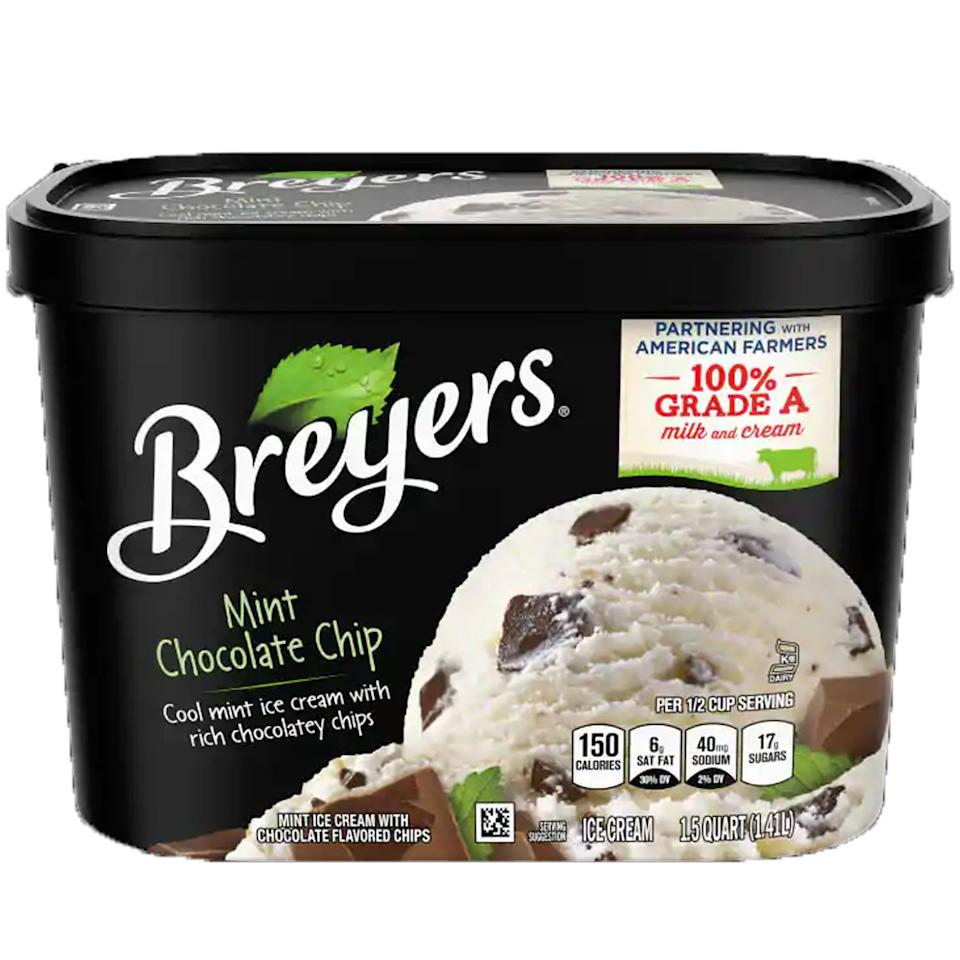 "<p>""Breyer's has the best, because right off the bat, the color isn't that fake dyed green color you usually see with mint ice cream. I also love that the chocolate is chunks instead of chips or flakes, which, along with the white (over a sick green), makes it feel more natural. The flavoring is the best too because it's more of a cool mint flavor instead of a toothpaste or mouthwash-esque mint."" - Amanda McKelvey, social media strategist </p> <p>""Breyer's Mint Chocolate Chip IS THE ONLY WAY. JK, mint chocolate chip is the bomb pretty much no matter which brand makes it (special shout out to Halo Top's version!), but if I had them all in front of me, I'd go Breyer's every time. It has the most appropriate chocolate to mint ratio and the ice cream isn't an awful artificial green color - too much of that is a turn off."" - Alessia Santoro, editor, Family</p>"