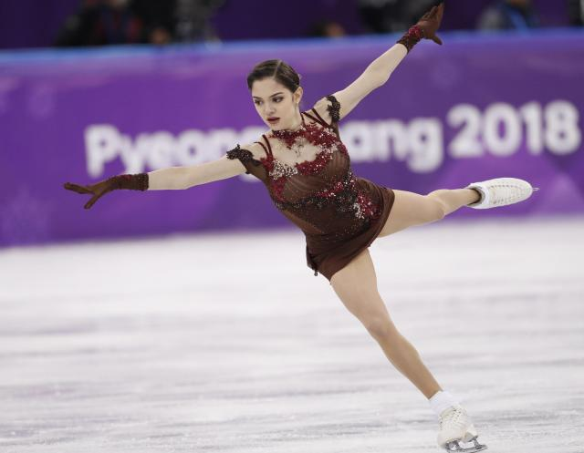 Figure Skating - Pyeongchang 2018 Winter Olympics - Women Single Skating free skating competition final - Gangneung Ice Arena - Gangneung, South Korea - February 23, 2018 - Evgenia Medvedeva, an Olympic Athlete from Russia, competes. REUTERS/Damir Sagolj