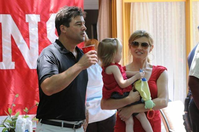 Connie Britton with Kyle Chandler on <em>Friday Night Lights</em>. (Photo: Getty Images)