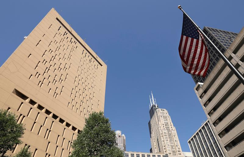 The Metropolitan Correctional Center, left, in Chicago where R. Kelly is being held after being arrested Thursday in Chicago on federal sex crimes. He's also facing similar charges in state court in Chicago and in federal court in New York.