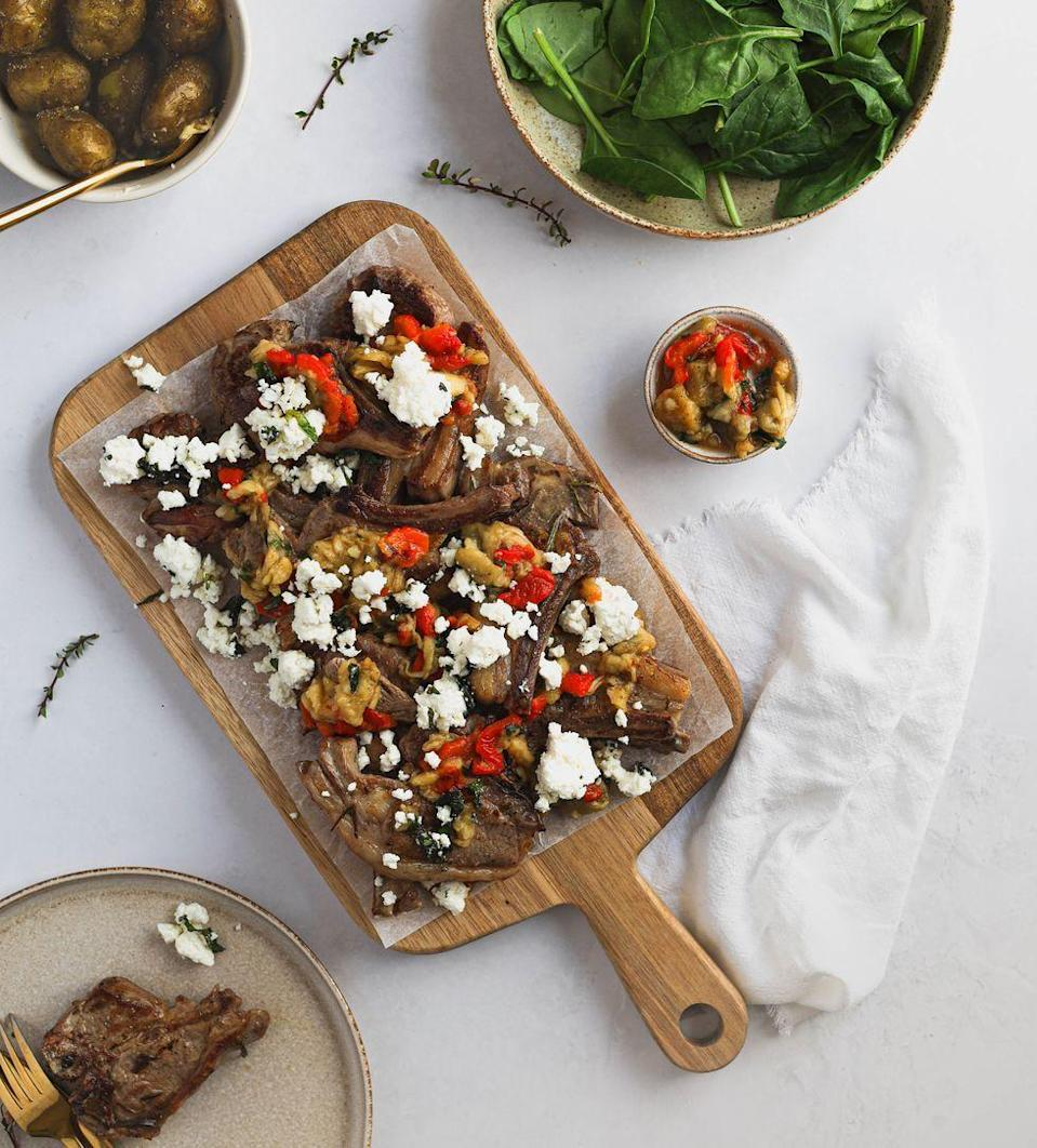 """<p>Barbecued <a href=""""https://www.delish.com/uk/cooking/recipes/a31728640/garlicky-lamb-chops-recipe/"""" rel=""""nofollow noopener"""" target=""""_blank"""" data-ylk=""""slk:lamb chops"""" class=""""link rapid-noclick-resp"""">lamb chops</a> don't get better than this! Bursting with flavour, this recipe is packed with fresh ingredients and delicious herbs. Super easy to cook and the perfect food for eating with your hands, these lamb chops are a sure-fire yes. </p><p>Get the <a href=""""https://www.delish.com/uk/cooking/recipes/a36227011/bbq-lamb-chops/"""" rel=""""nofollow noopener"""" target=""""_blank"""" data-ylk=""""slk:BBQ Herb Lamb Chops"""" class=""""link rapid-noclick-resp"""">BBQ Herb Lamb Chops</a> recipe.</p>"""