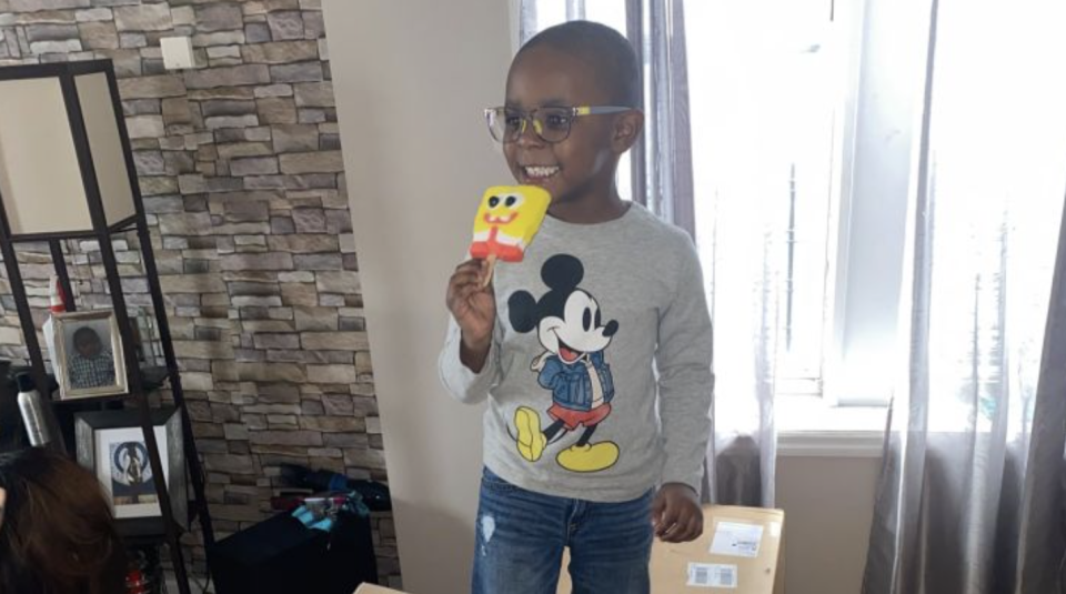 Four-year-old Noah bought over $3000 worth of SpongeBob popsicles from Amazon. Source: GoFundMe