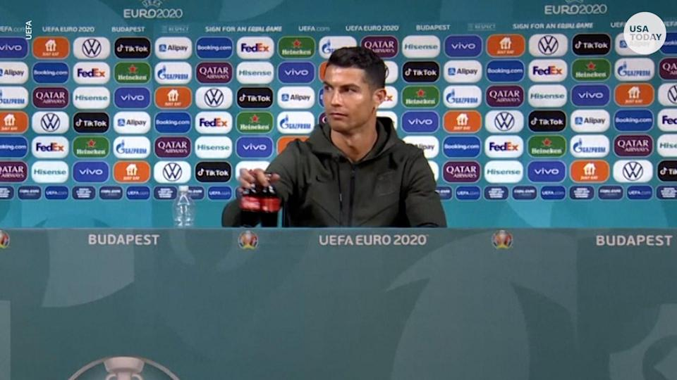 Cristiana Ronaldo may have cost Coca-Cola billions after he moved two bottles from his press conference and replaced with water.