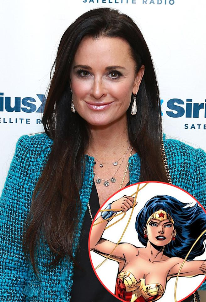 """<strong>Kyle Richards (""""The Real Housewives of Beverly Hills""""):</strong> Wonder Woman. I may have more than one of those costumes around the house!"""