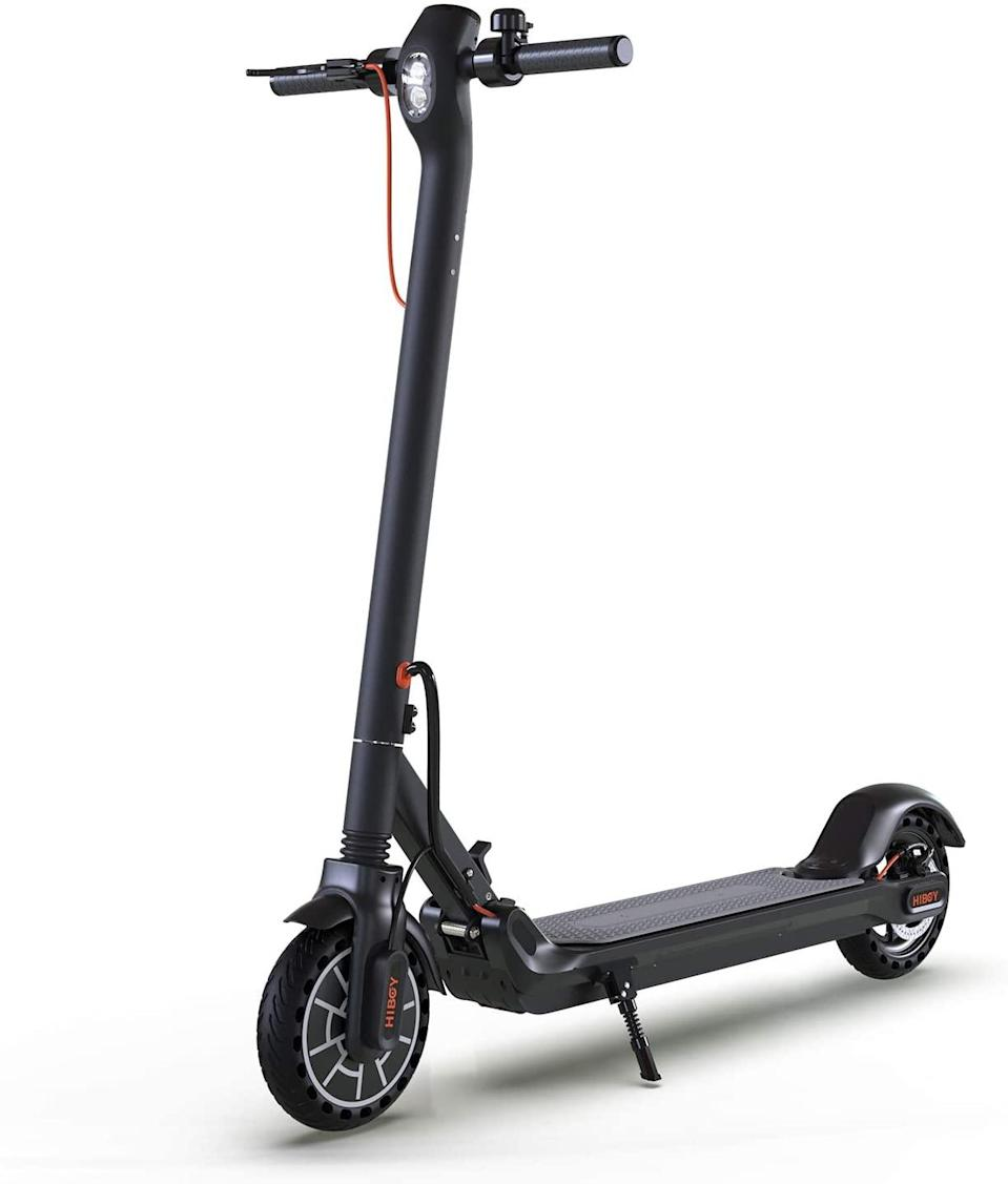 "The commuter's life will get a major upgrade with this best-selling scooter that tackles steep hills and gets up to a cool (and safe) 18 miles per hour. $400, Amazon. <a href=""https://www.amazon.com/Hiboy-MAX-Electric-Scooter-One-Step-Electric/dp/B07V8H6LPX/ref=sr_1_13"" rel=""nofollow noopener"" target=""_blank"" data-ylk=""slk:Get it now!"" class=""link rapid-noclick-resp"">Get it now!</a>"