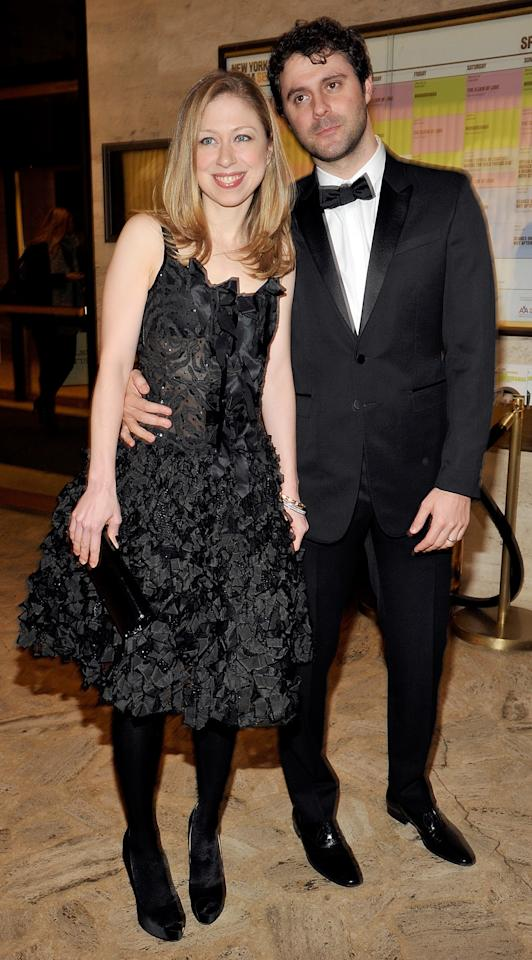NEW YORK, NY - MARCH 14:  Chelsea Clinton and husband Marc Mezvinsky attend the 2011 School of American Ballet Winter Ball at David H. Koch Theater, Lincoln Center on March 14, 2011 in New York City.  (Photo by Joe Corrigan/Getty Images)