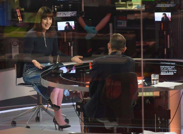 Shadow chancellor Rachel Reeves on The Andrew Marr Show