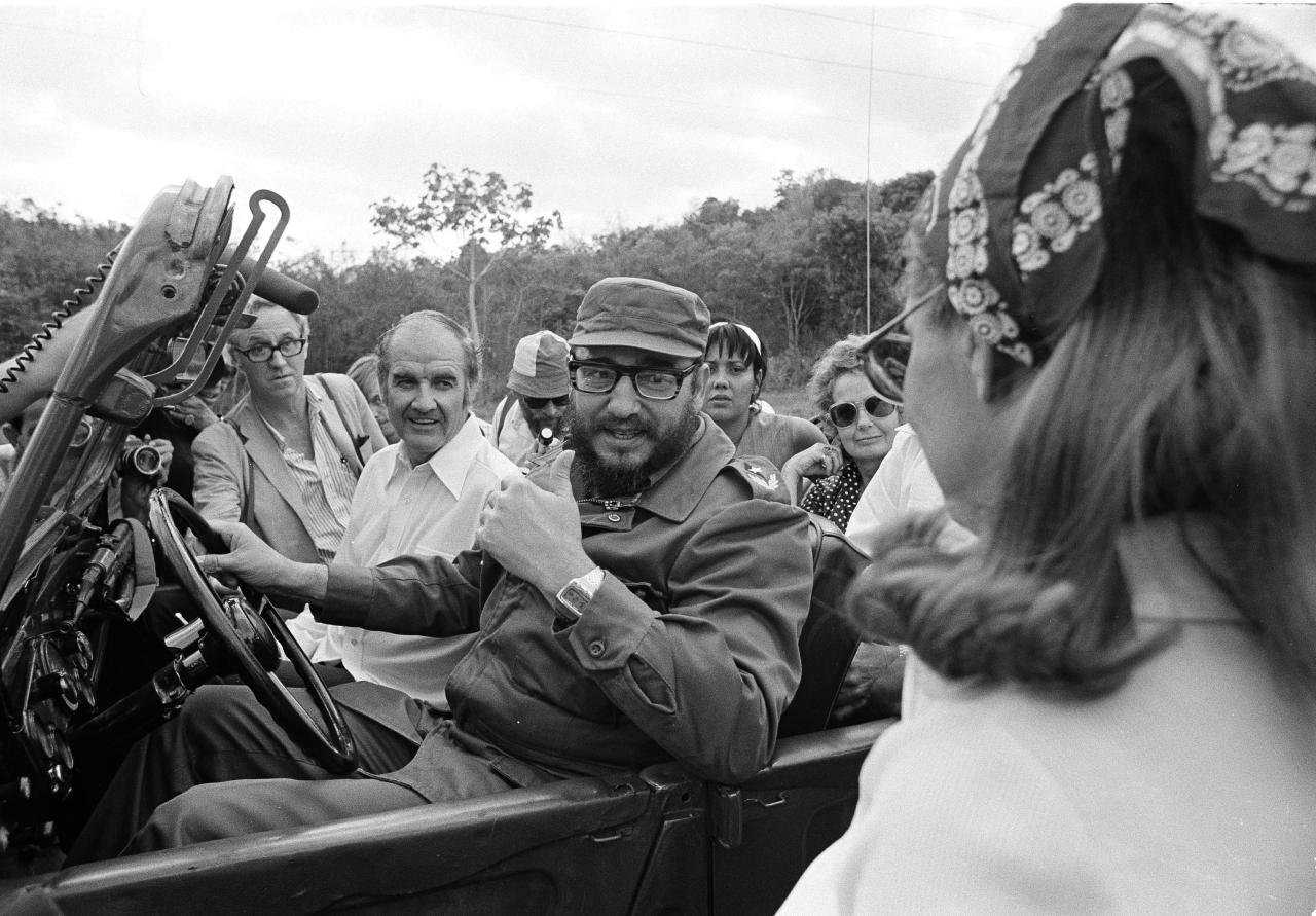 FILE - In this May 8, 1975 file photo, South Dakota Senator George McGovern goes for a jeep ride with Cuban Premier Fidel Castro, behind the wheel, during the senator's visit to Cuba. A family spokesman says, McGovern, the Democrat who lost to President Richard Nixon in 1972 in a historic landslide, has died at the age of 90. According to a spokesman, McGovern died Sunday, Oct. 21, 2012 at a hospice in Sioux Falls, surrounded by family and friends. (AP Photo/Charles Tasnadi, File)