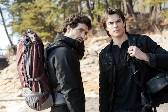 """Into the Wild"" -- David Alpay as Professor Shane and Ian Somerhalder as Damon"