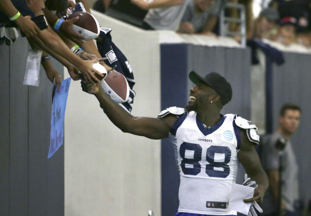 "Are you ready to sign <a class=""link rapid-noclick-resp"" href=""/nfl/players/23999/"" data-ylk=""slk:Dez Bryant"">Dez Bryant</a> for your fantasy squad? (AP Photo/LM Otero)"