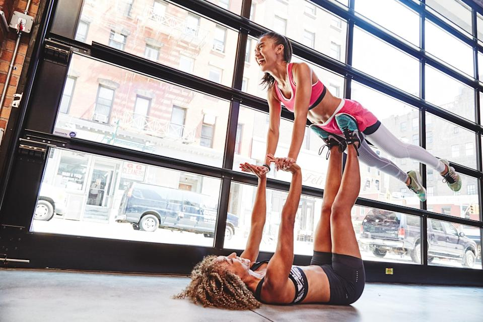"""<p>Maintaining a healthy lifestyle can be much easier with the support and motivation of like-minded friends. <a href=""""https://www.popsugar.com/fitness/How-Friend-Can-Help-You-Lose-Weight-17861374"""" class=""""link rapid-noclick-resp"""" rel=""""nofollow noopener"""" target=""""_blank"""" data-ylk=""""slk:Having a healthy support group"""">Having a healthy support group</a> can lead to better choices for yourself; you may end up moving more, swapping healthy recipes, and making other lifestyle choices that can contribute to weight loss. </p>"""