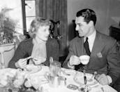 <p>The newlyweds enjoy breakfast together in their Hollywood home.</p>
