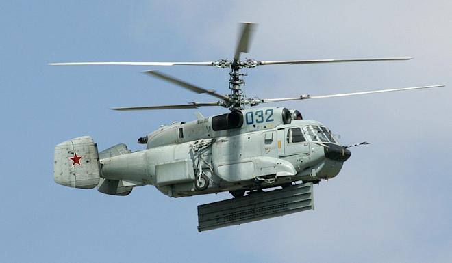 A Russian Navy Kamov Ka-31. The helicopters are also used by the Chinese and Indian armed forces. Photo: Wikipedia