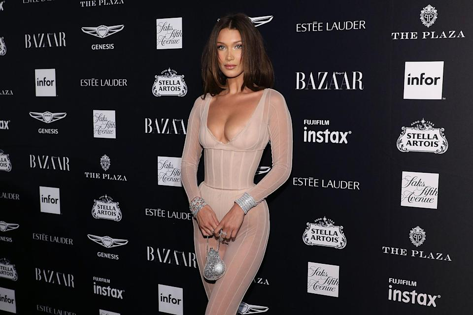 Bella Hadid at the 2018 Harper's Bazaar ICONS Party. [Photo: Getty]