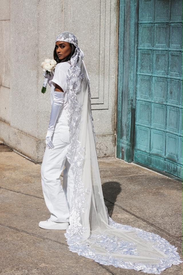 "<p><b>PS: Are there any unique details you can tell us about the custom durag veil?</b><br> <b>VK</b>: When I told my assistant Joanna Hernandez about my <a class=""sugar-inline-link ga-track"" title=""Latest photos and news for wedding"" href=""https://www.popsugar.co.uk/Wedding"" target=""_blank"" data-ga-category=""Related"" data-ga-label=""https://www.popsugar.co.uk/Wedding"" data-ga-action=""&lt;-related-&gt; Links"">wedding</a> look, she put me in contact with talented designer <a href=""https://www.instagram.com/evita_loca/"" target=""_blank"" class=""ga-track"" data-ga-category=""Related"" data-ga-label=""https://www.instagram.com/evita_loca/"" data-ga-action=""In-Line Links"">Evita Loca</a>, who makes durags. I liked that Evita was an expert on the style and had a unique touch. Joanna reached out to Evita and explained the look I was going for and she replied quickly. She lives in another state, so we designed it over text message. Evita went fabric shopping, sent videos of samples, and ultimately we decided on a lace and beaded fabric. We agreed the veil should be as dynamic as possible and figured nine feet of length would be perfect.</p> <p><b>PS: Where are you safekeeping it?</b><br> <b>VK:</b> I know I'll have to add it to one of my wedding looks on my big wedding day. For now, it's neatly folded in a box and nestled in my closet.</p>"
