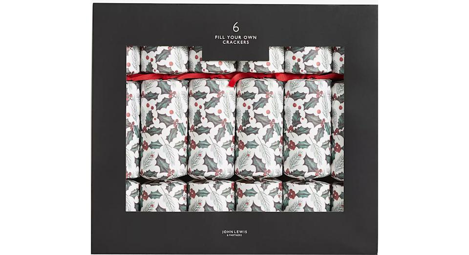 Holly & Pine Fill Your Own Christmas Crackers, Pack of 6