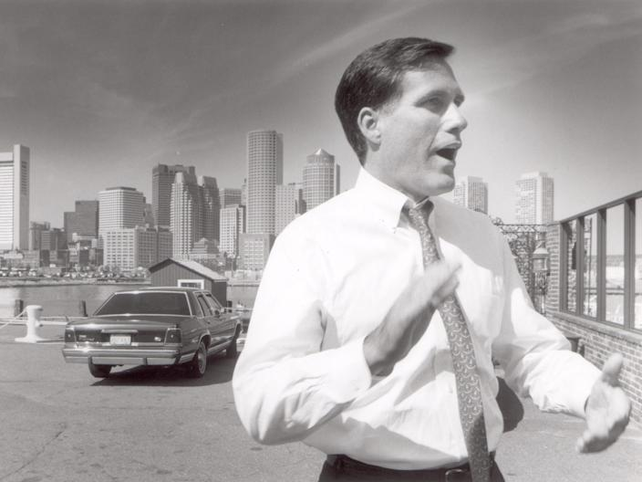 Mitt Romney is all set to go against Senator Ted Kennedy in 1994.