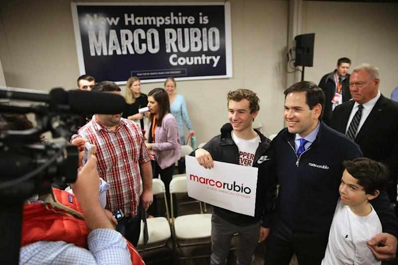 Republican presidential candidate Senator Marco Rubio is gaining traction among mainstream Republican voters (AFP Photo/Chip Somodevilla )