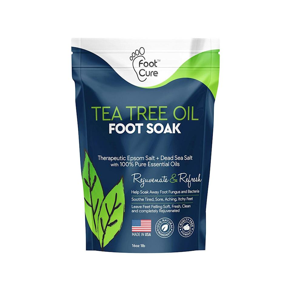 """Add this to cart with the foot massager. $18, Amazon. <a href=""""https://www.amazon.com/Foot-Cure-Tree-SOAK-EPSOM/dp/B0829DGWD5/ref=sr_1_24_sspa?"""" rel=""""nofollow noopener"""" target=""""_blank"""" data-ylk=""""slk:Get it now!"""" class=""""link rapid-noclick-resp"""">Get it now!</a>"""