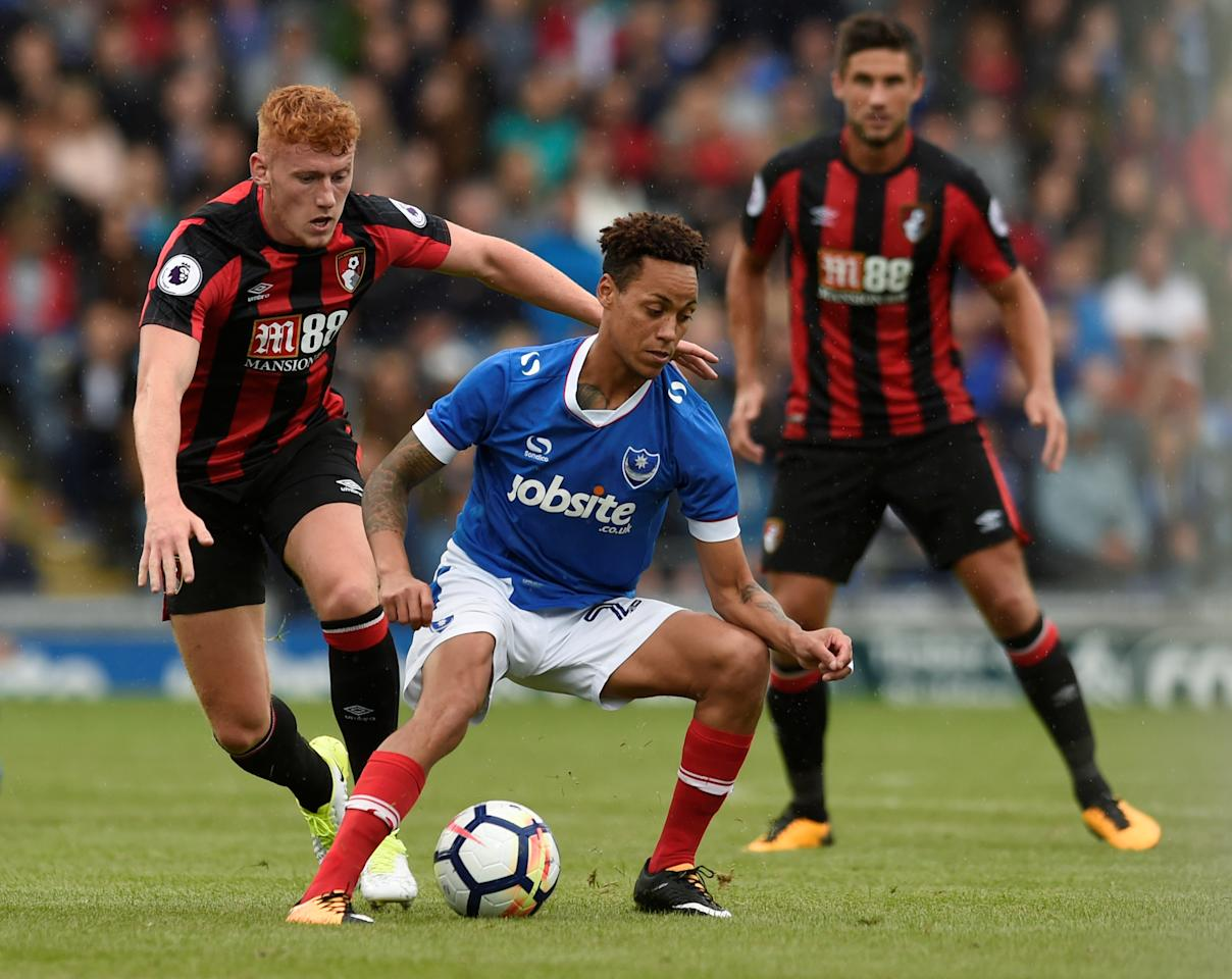 Soccer Football - Portsmouth vs AFC Bournemouth - Pre Season Friendly - June 22, 2017 Portsmouth's Kyle Bennett in action Action Images via Reuters/Alan Walter