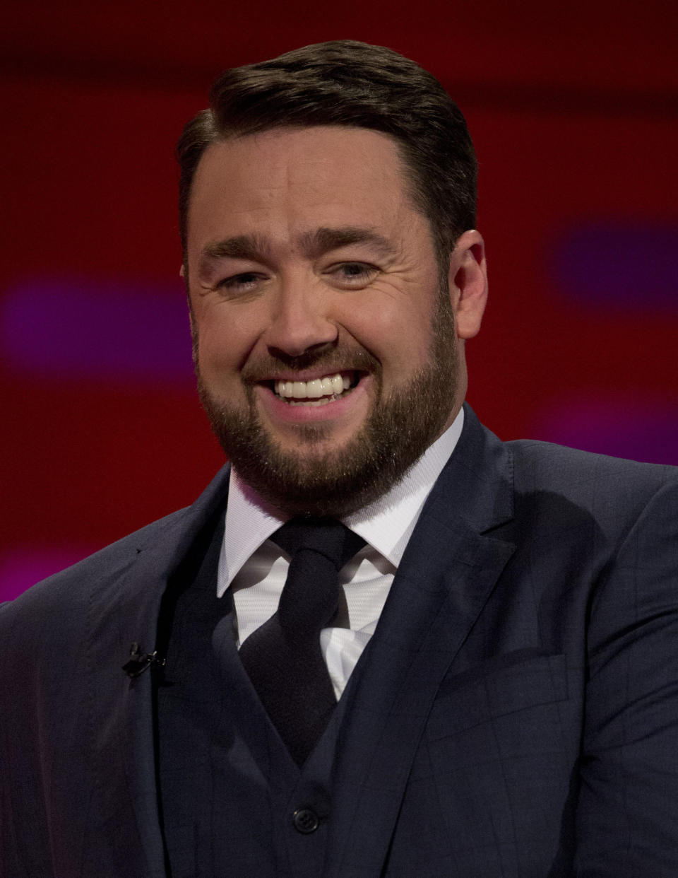 Jason Manford during the filming of the Graham Norton Show at The London Studios, to be aired on BBC One on Friday.