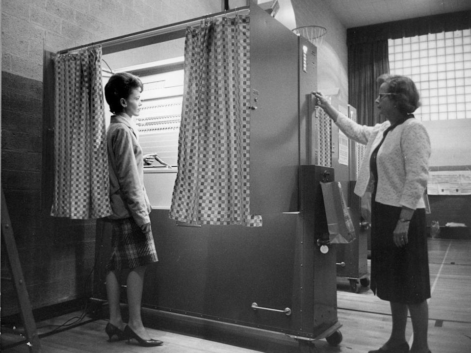 voting machine 1965