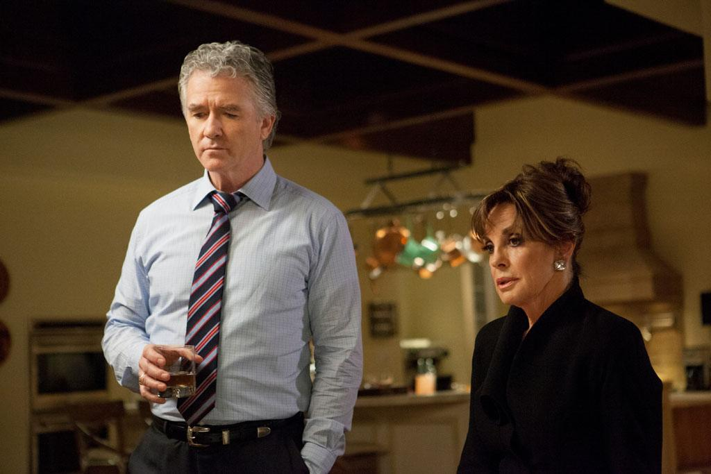 "Patrick Duffy and Linda Gray in the ""Dallas"" Season 2 episode, ""Trial and Error."""