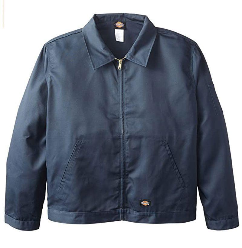 """<p><strong>Dickies</strong></p><p>amazon.com</p><p><strong>$59.99</strong></p><p><a href=""""https://www.amazon.com/dp/B000N62M9S?tag=syn-yahoo-20&ascsubtag=%5Bartid%7C10054.g.2995%5Bsrc%7Cyahoo-us"""" rel=""""nofollow noopener"""" target=""""_blank"""" data-ylk=""""slk:Shop Now"""" class=""""link rapid-noclick-resp"""">Shop Now</a></p><p>The work jacket is a hard-wearing, no-frills style that just gets the job done, no matter what that job is. And after all these years, Dickies still makes a great option—and for less than fifty bucks, no less. </p>"""