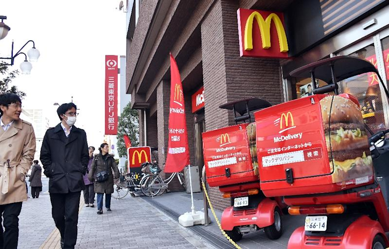 Shares in McDonald's Japan were evicted from the JPX-Nikkei 400 after a series of food contamination scandals (AFP Photo/Yoshikazu Tsuno)