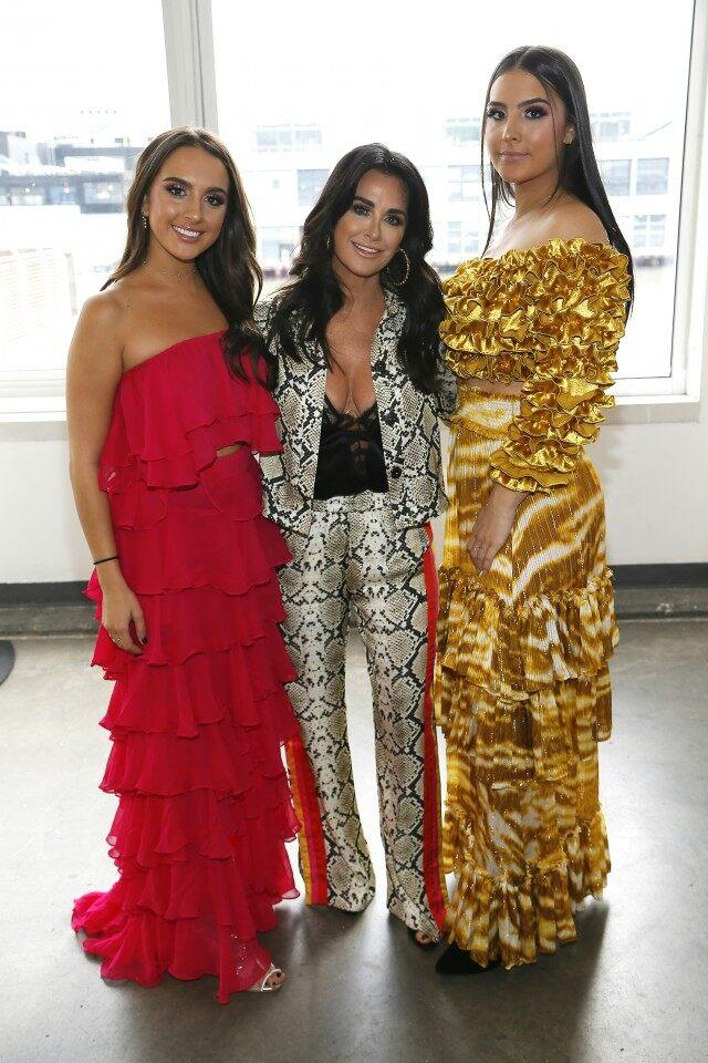Kyle Richards and daughters at NYFW show
